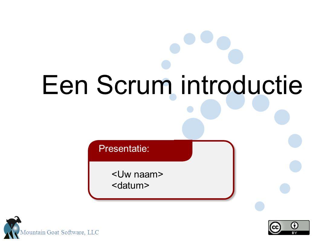 Een Scrum introductie Presentatie: <Uw naam> <datum> 2