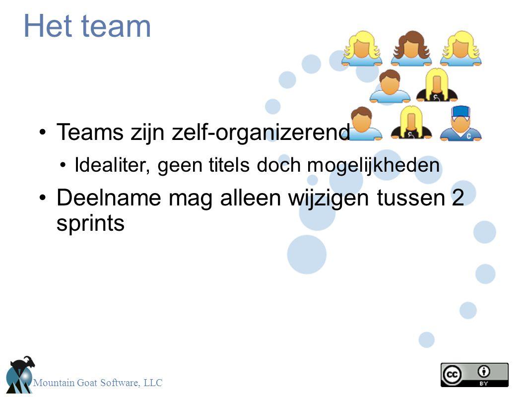 Het team Teams zijn zelf-organizerend