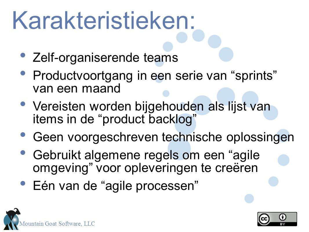 Karakteristieken: Zelf-organiserende teams