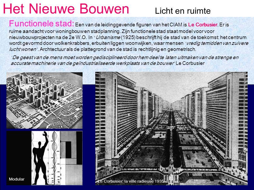 Afbeeldingsresultaat voor le corbusier stad van de toekomst