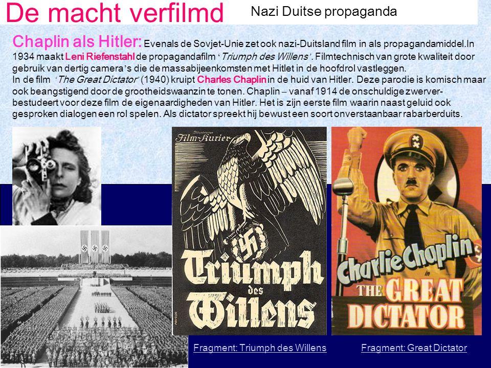 De macht verfilmd Nazi Duitse propaganda.