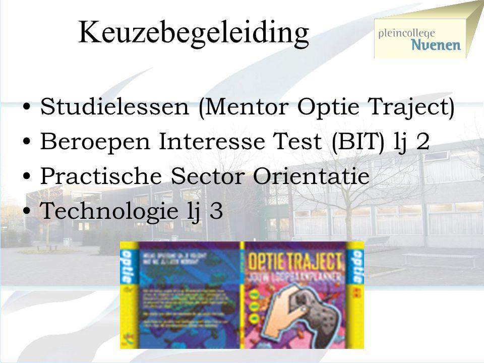 Keuzebegeleiding Studielessen (Mentor Optie Traject)