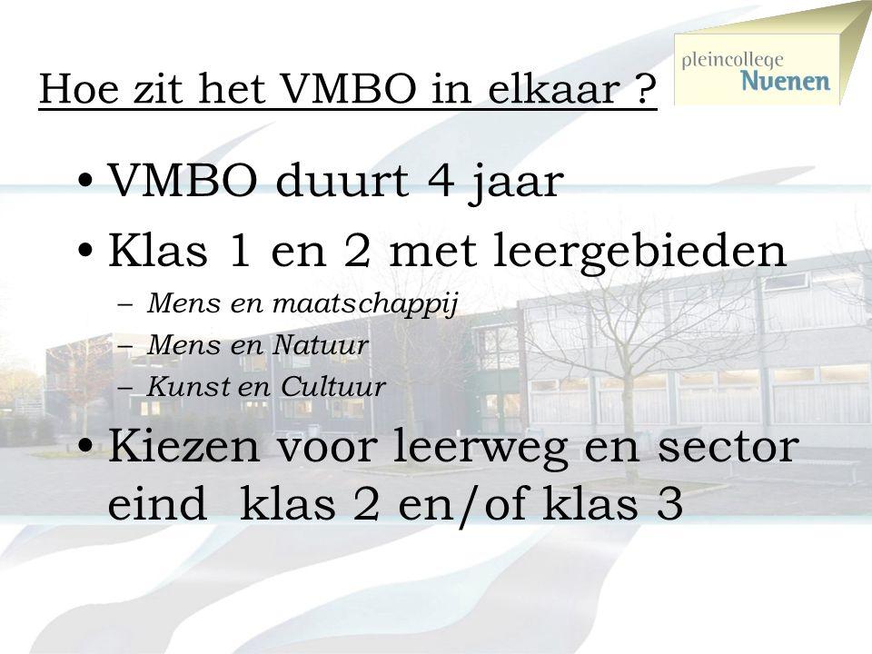 Hoe zit het VMBO in elkaar