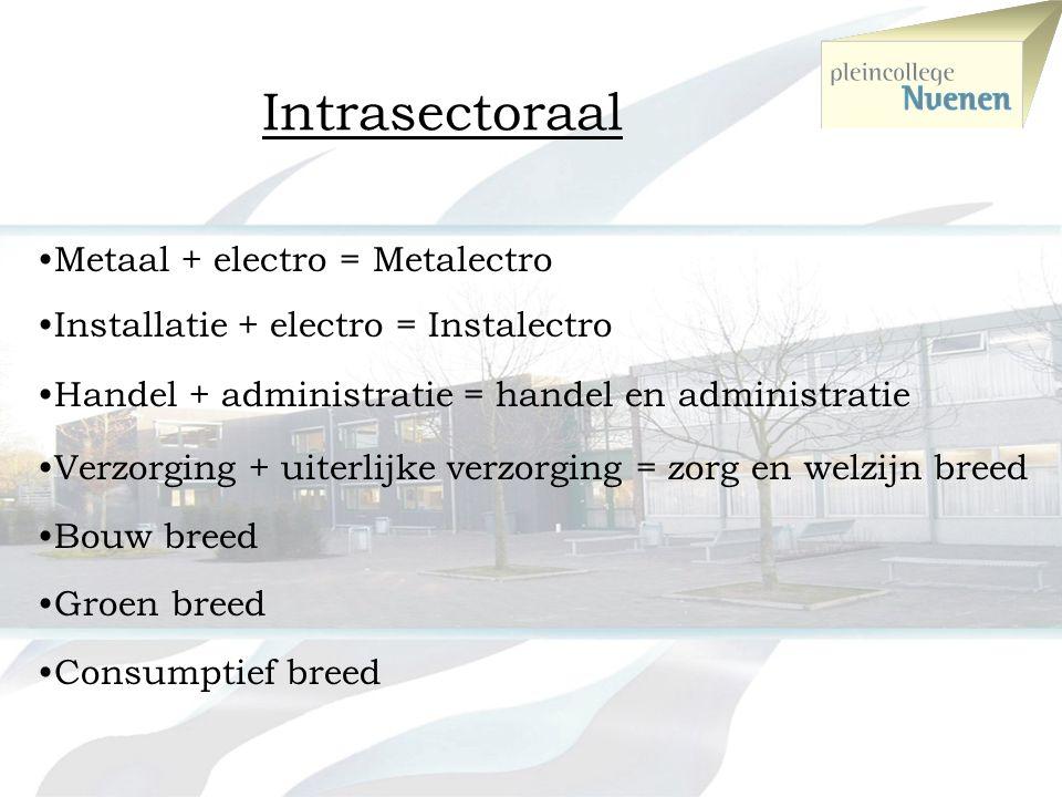 Intrasectoraal Metaal + electro = Metalectro