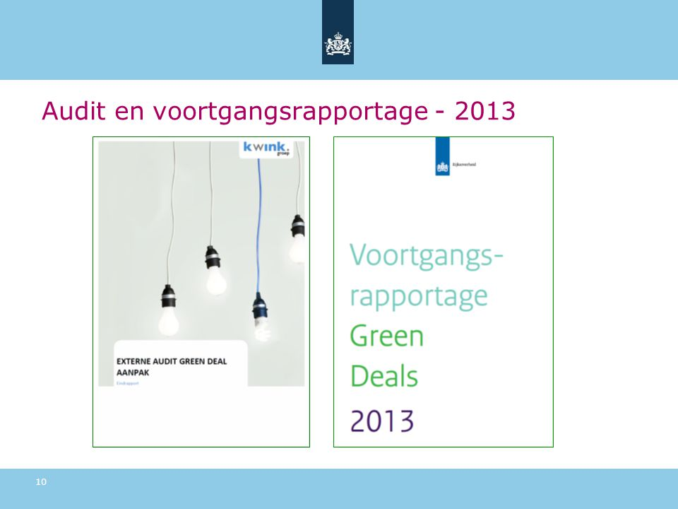 Audit en voortgangsrapportage - 2013