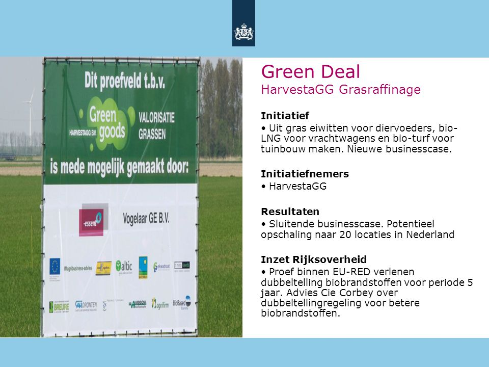 Green Deal HarvestaGG Grasraffinage
