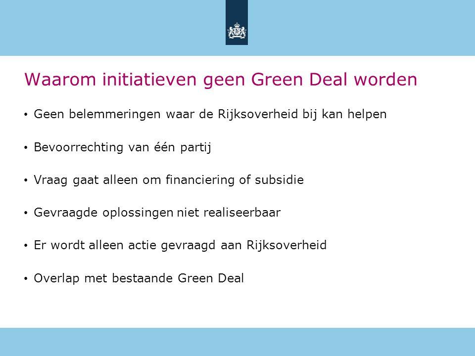 Waarom initiatieven geen Green Deal worden