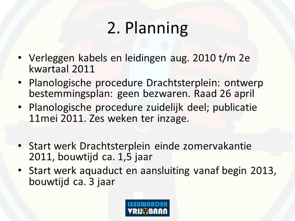 2. Planning Verleggen kabels en leidingen aug. 2010 t/m 2e kwartaal 2011.