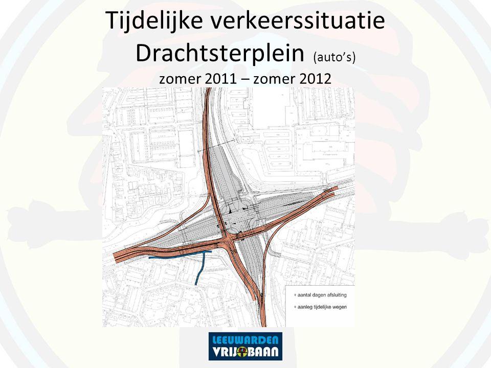 Tijdelijke verkeerssituatie Drachtsterplein (auto's) zomer 2011 – zomer 2012