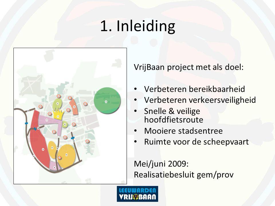 1. Inleiding VrijBaan project met als doel: Verbeteren bereikbaarheid