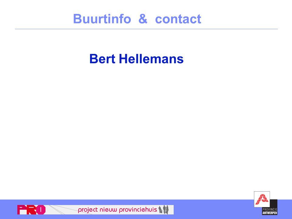 Buurtinfo & contact Bert Hellemans