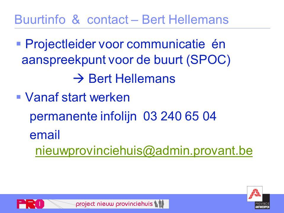 Buurtinfo & contact – Bert Hellemans