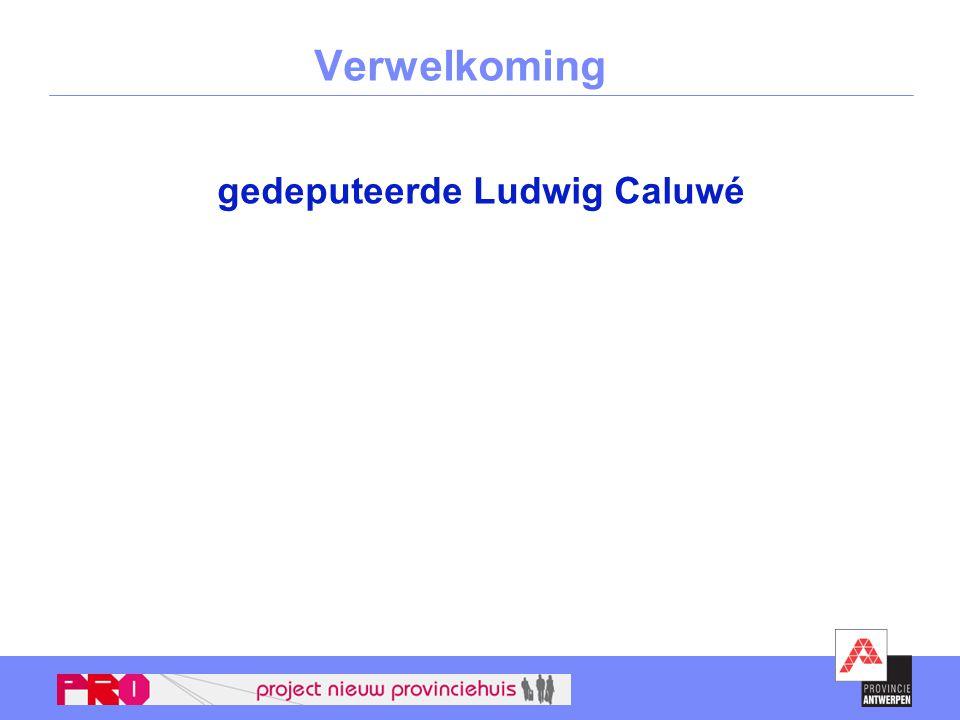 gedeputeerde Ludwig Caluwé