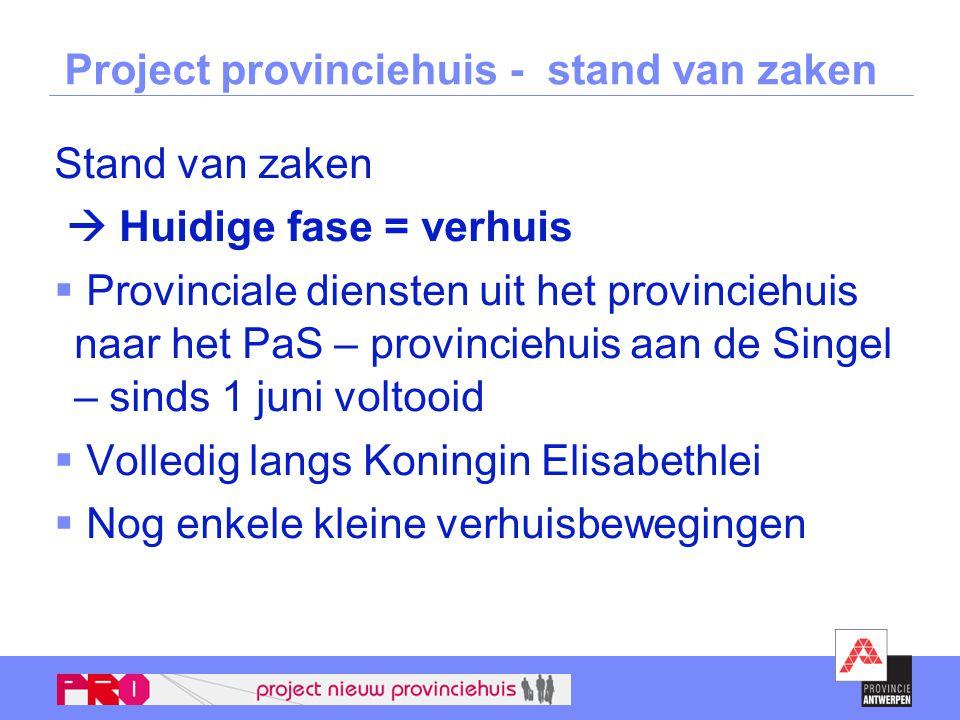 Project provinciehuis - stand van zaken