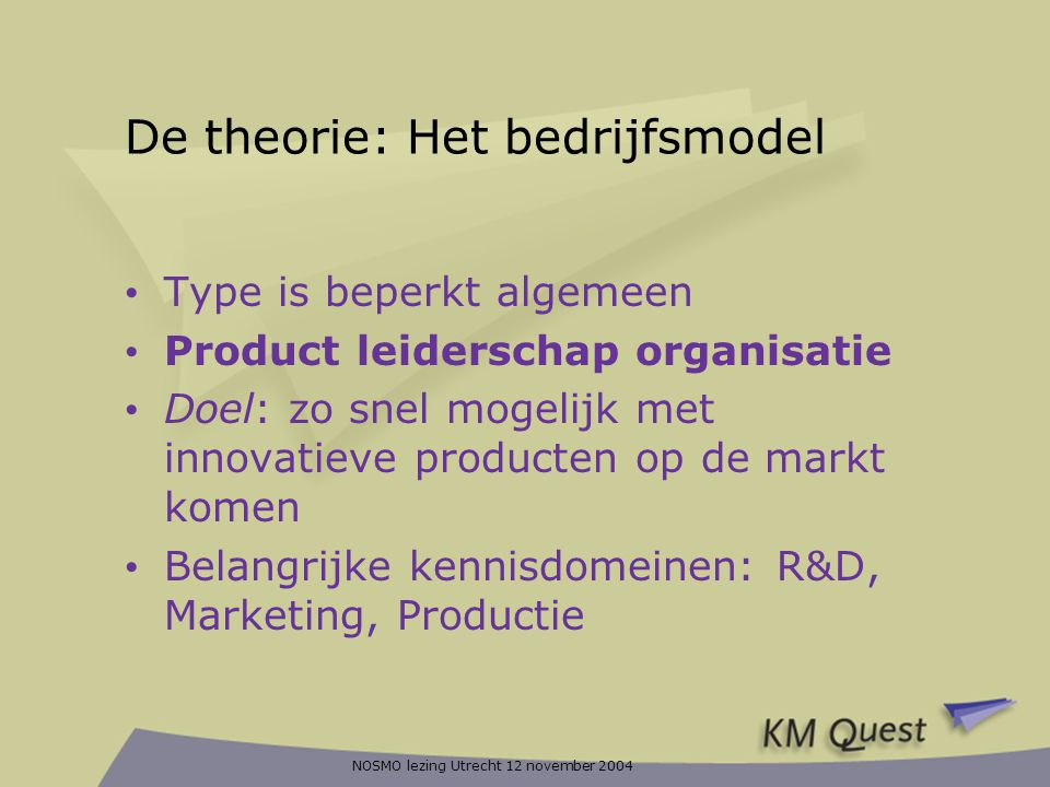 De theorie: Het bedrijfsmodel