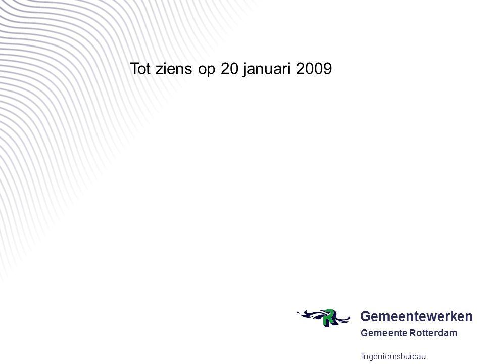 Tot ziens op 20 januari 2009