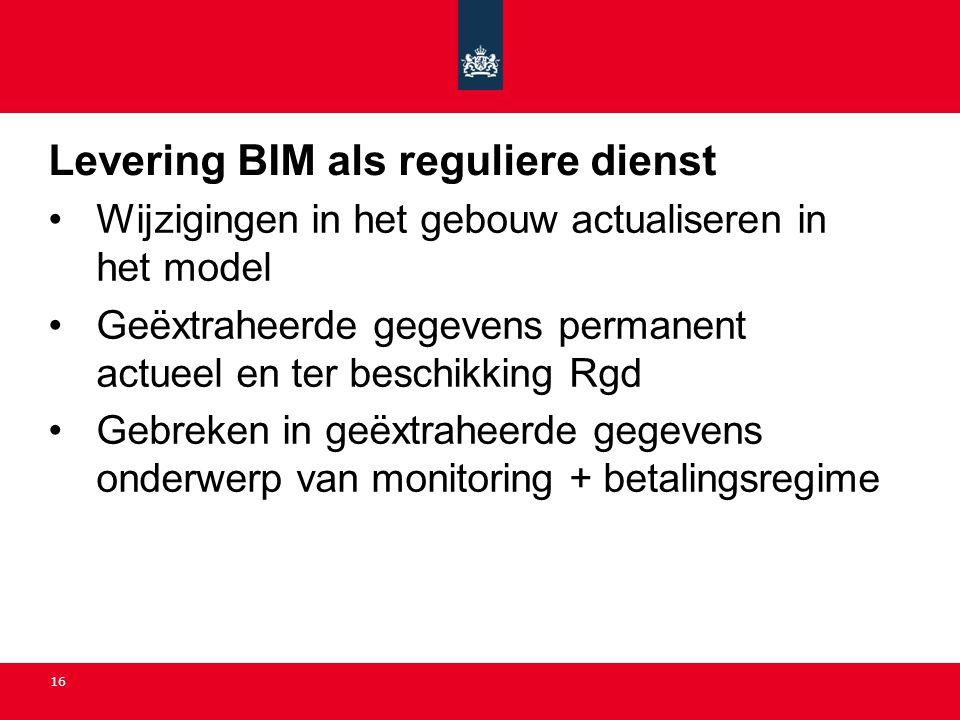 Levering BIM als reguliere dienst