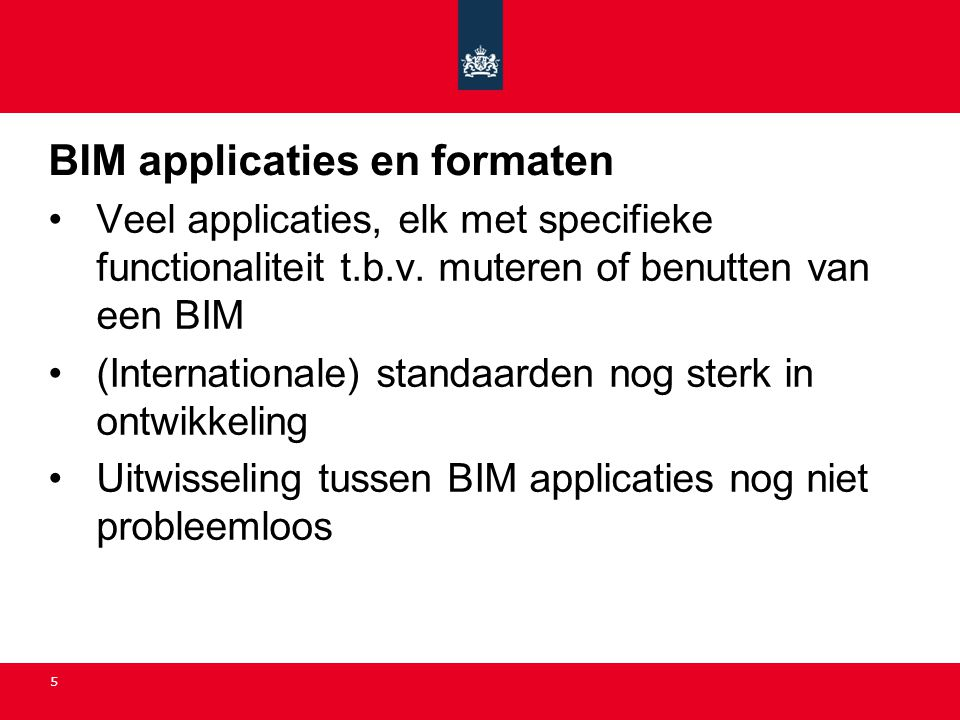 BIM applicaties en formaten