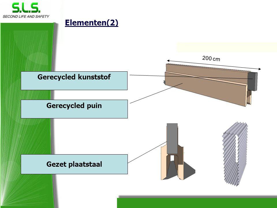 Elementen(2) Gerecycled kunststof Gerecycled puin Gezet plaatstaal