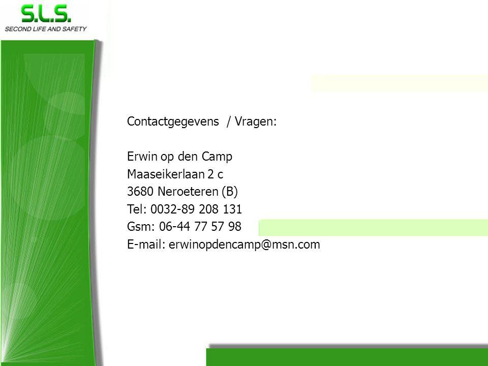 Contactgegevens / Vragen: