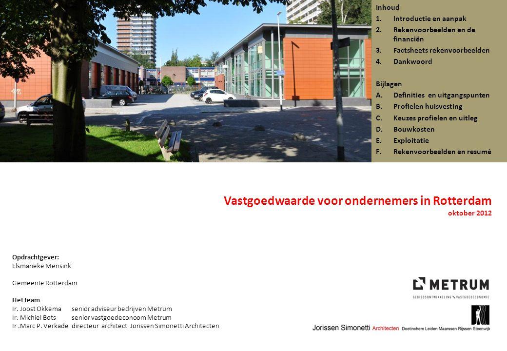Vastgoedwaarde voor ondernemers in Rotterdam oktober 2012