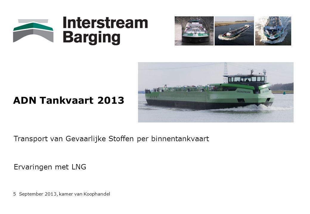 ADN Tankvaart 2013 Transport van Gevaarlijke Stoffen per binnentankvaart.