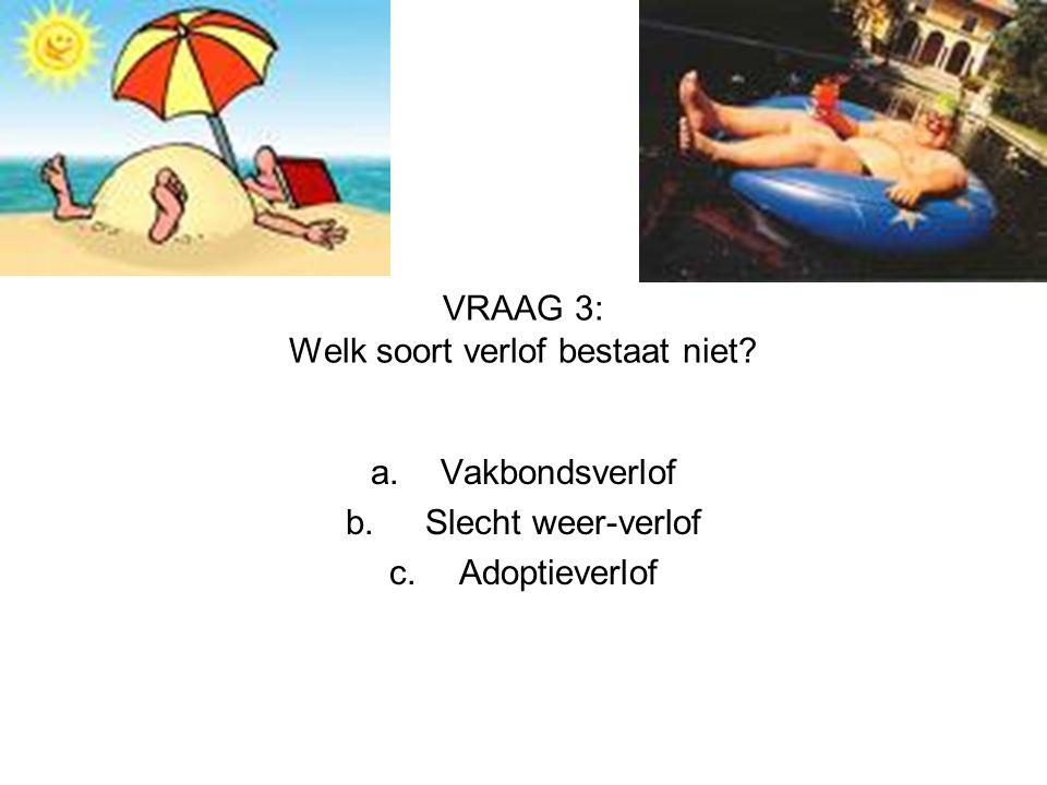 VRAAG 3: Welk soort verlof bestaat niet