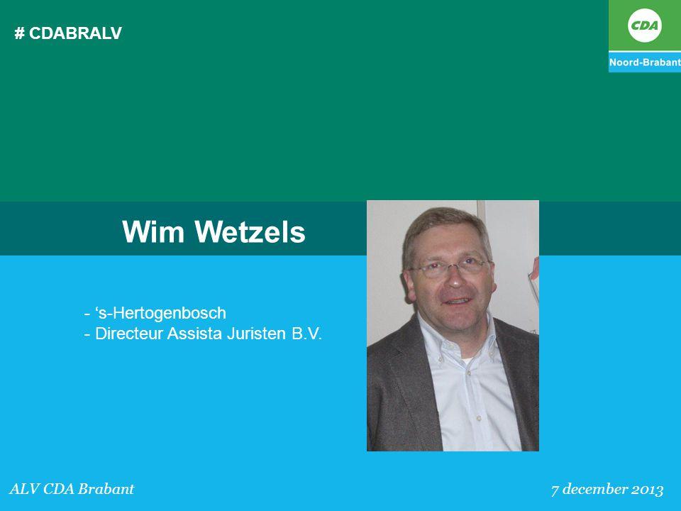 # CDABRALV Wim Wetzels. - 's-Hertogenbosch - Directeur Assista Juristen B.V.
