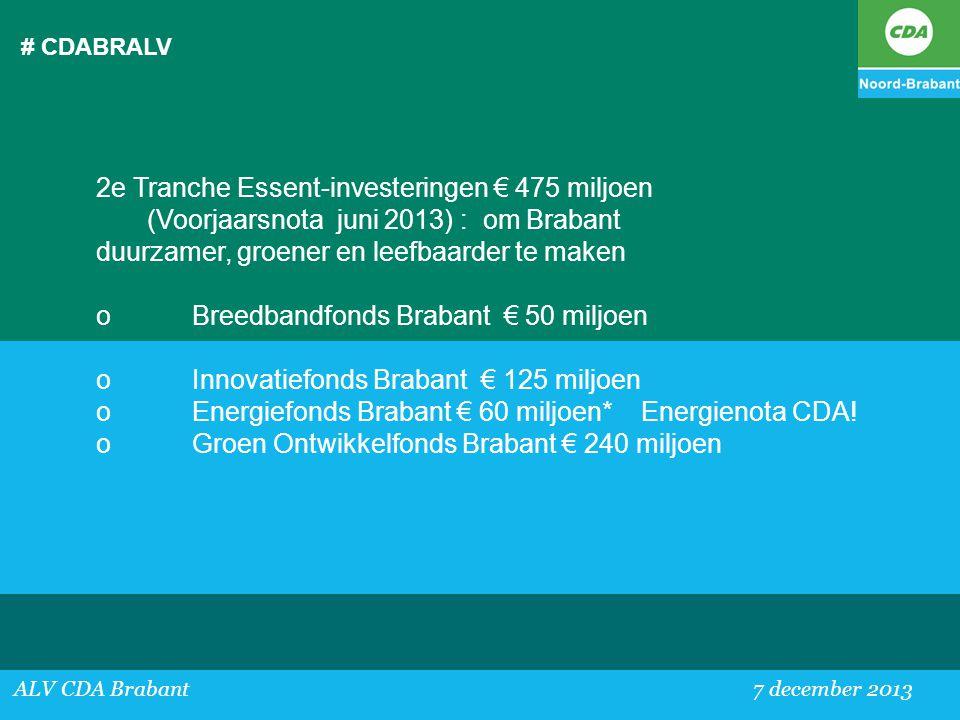 2e Tranche Essent-investeringen € 475 miljoen