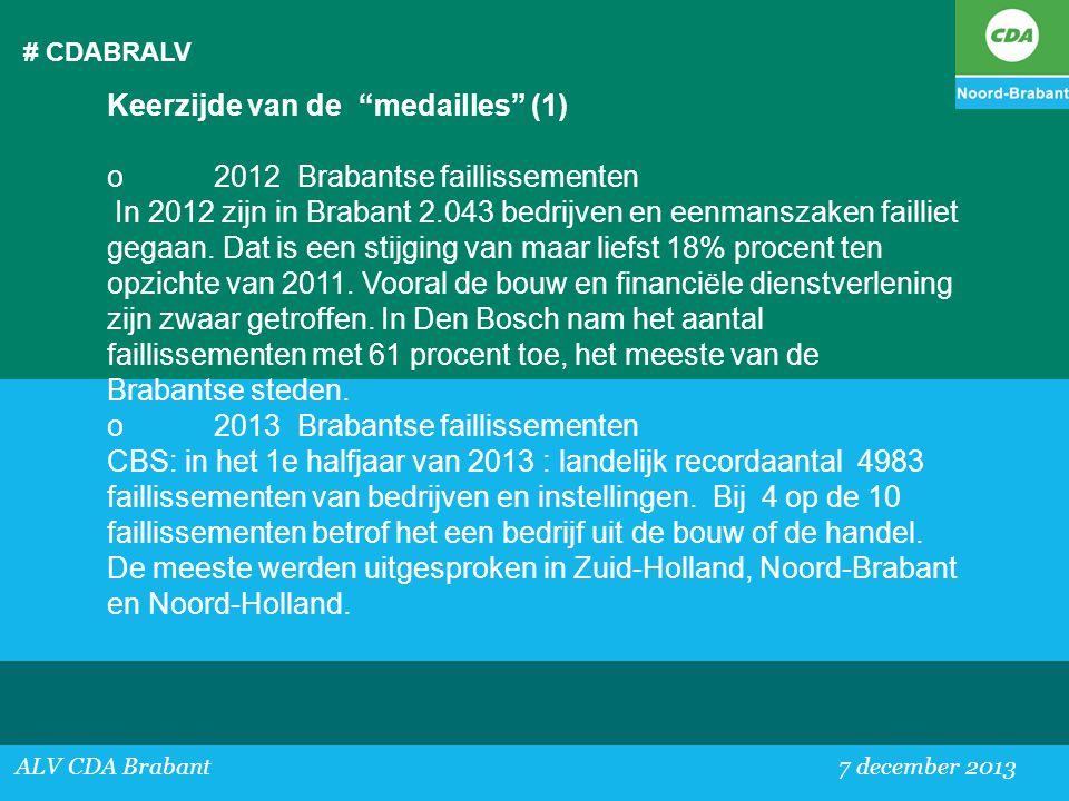 Keerzijde van de medailles (1) o 2012 Brabantse faillissementen
