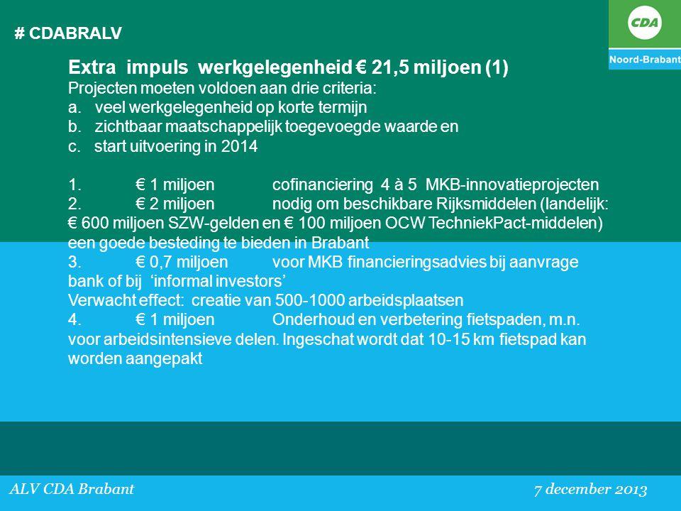Extra impuls werkgelegenheid € 21,5 miljoen (1)