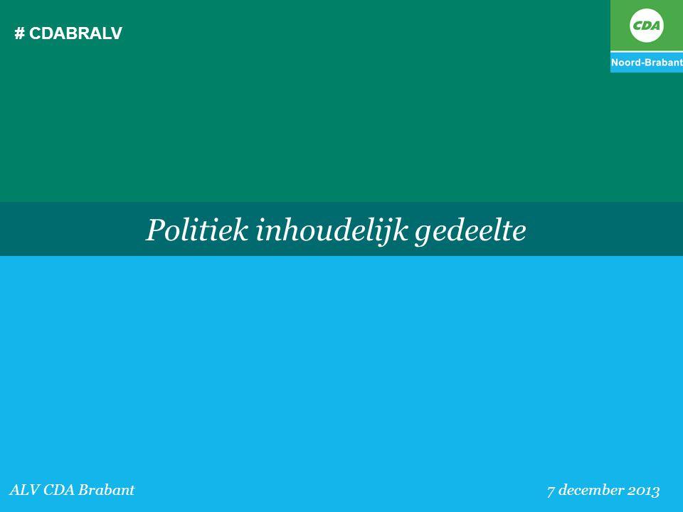 Politiek inhoudelijk gedeelte