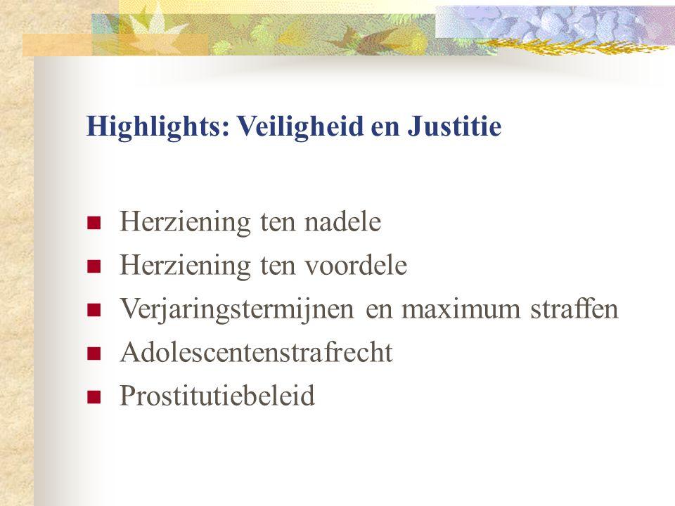 Highlights: Veiligheid en Justitie