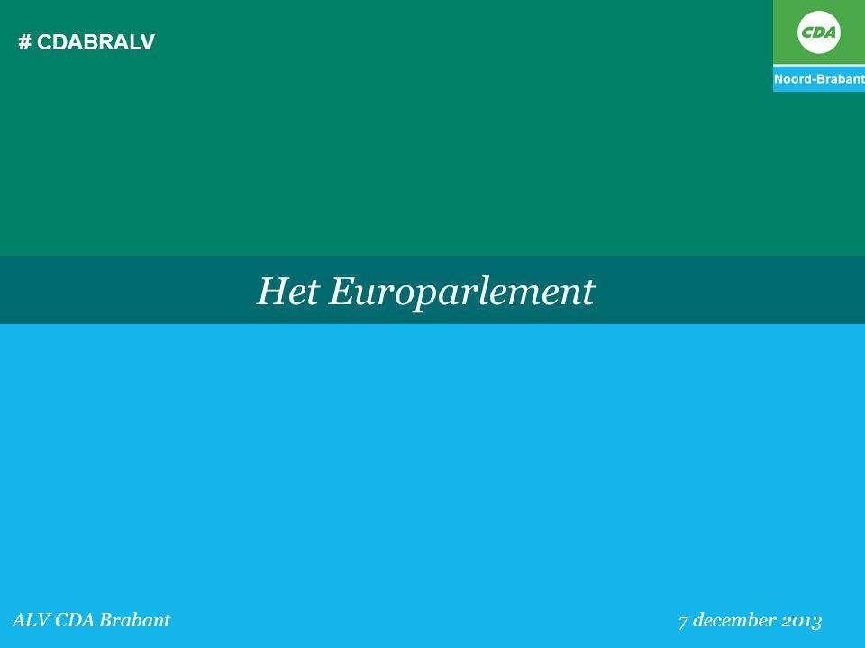 # CDABRALV Het Europarlement ALV CDA Brabant 7 december 2013