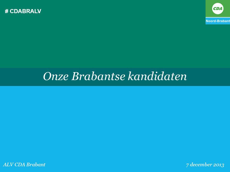 Onze Brabantse kandidaten