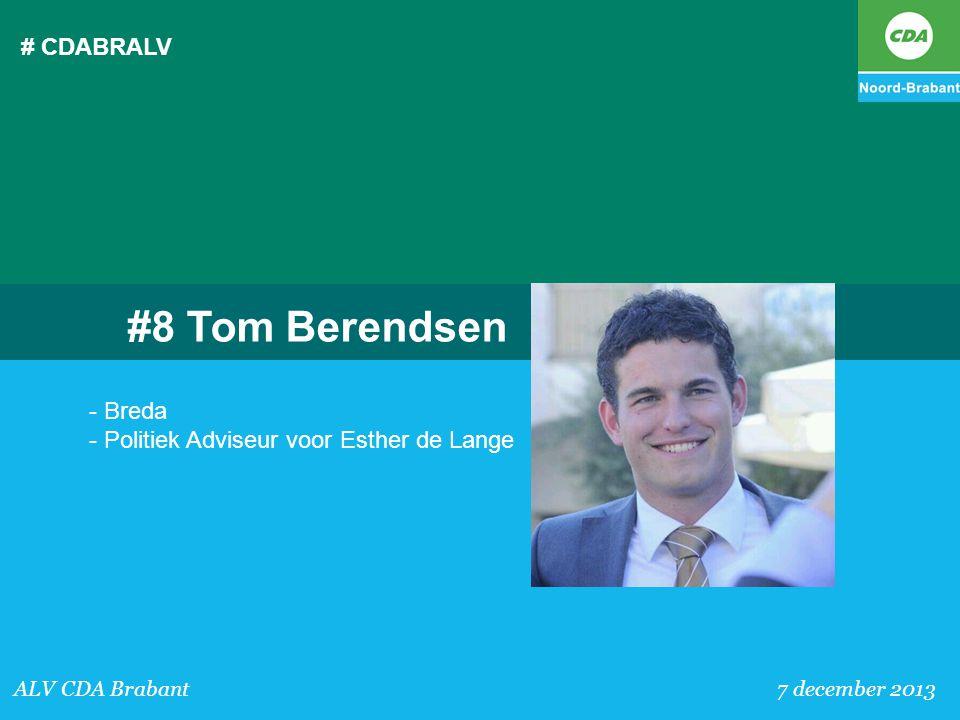 #8 Tom Berendsen # CDABRALV