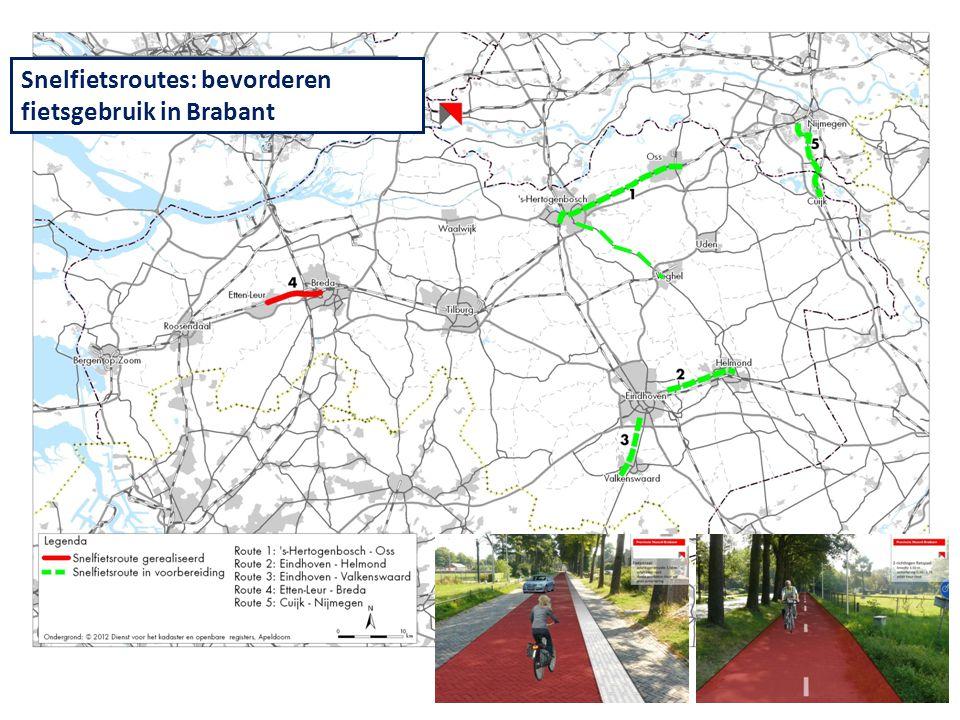 Snelfietsroutes: bevorderen fietsgebruik in Brabant