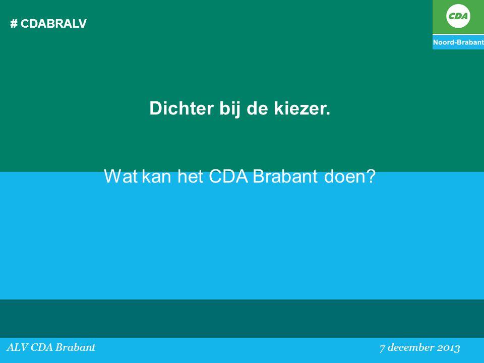 Wat kan het CDA Brabant doen
