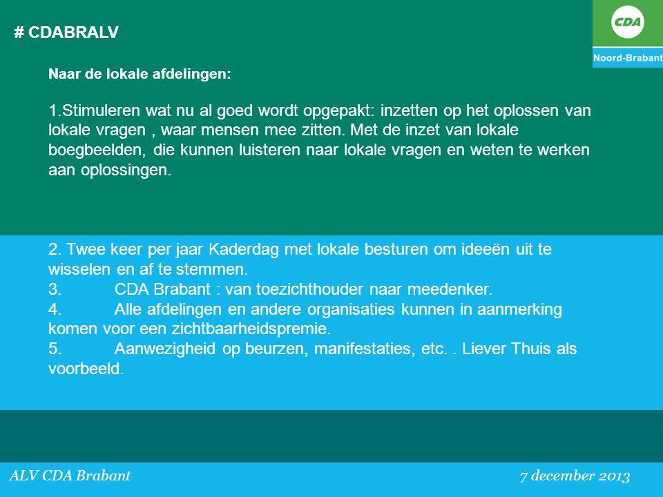 3. CDA Brabant : van toezichthouder naar meedenker.