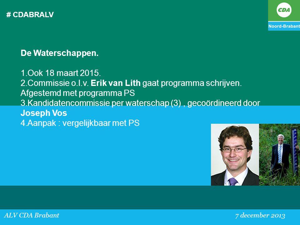 Kandidatencommissie per waterschap (3) , gecoördineerd door Joseph Vos