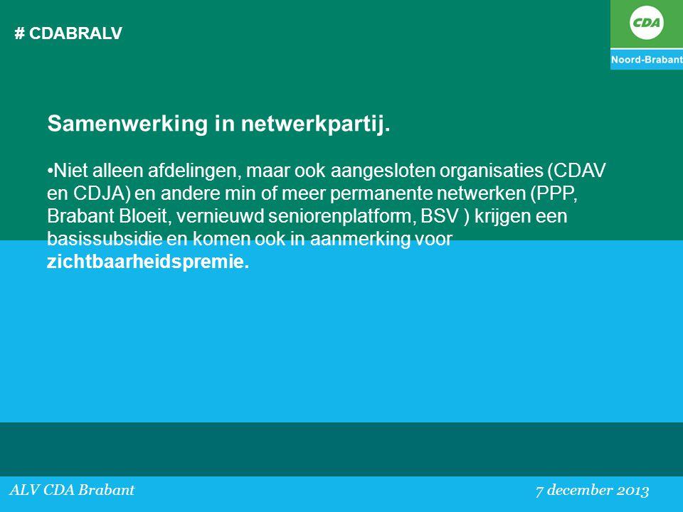 Samenwerking in netwerkpartij.