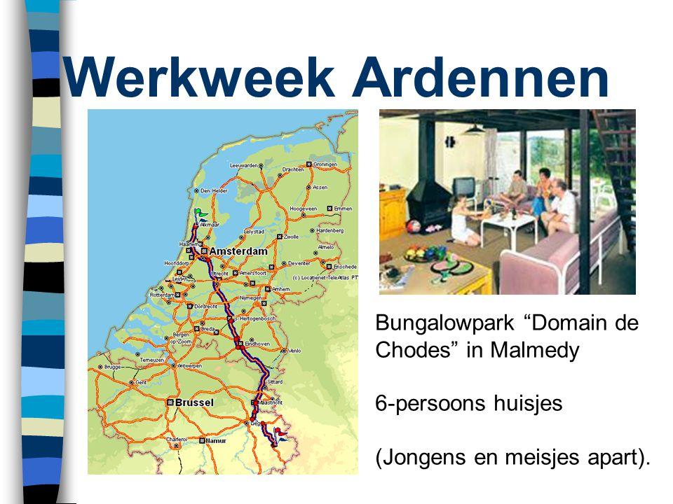 Werkweek Ardennen Bungalowpark Domain de Chodes in Malmedy