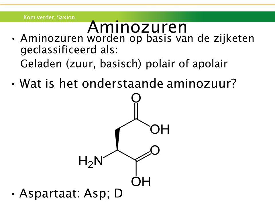 Aminozuren Wat is het onderstaande aminozuur