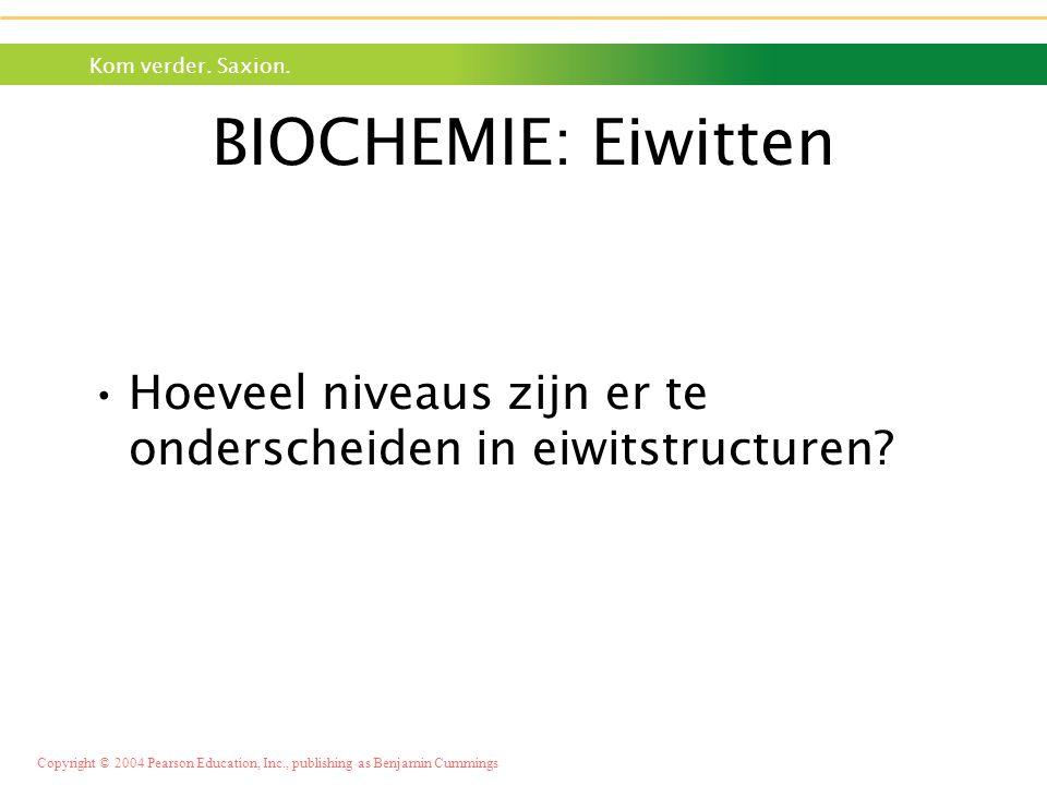 BIOCHEMIE: Eiwitten Hoeveel niveaus zijn er te onderscheiden in eiwitstructuren