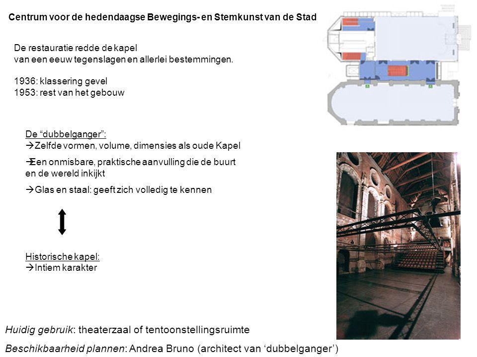 Huidig gebruik: theaterzaal of tentoonstellingsruimte
