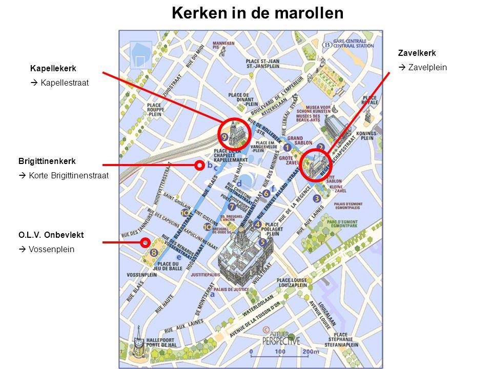 Kerken in de marollen Zavelkerk  Zavelplein Kapellekerk