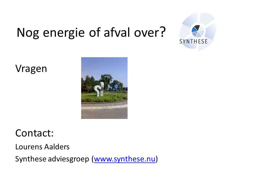 Nog energie of afval over