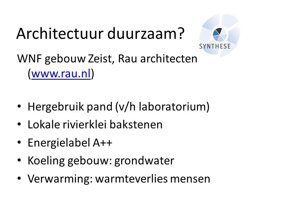 Architectuur duurzaam
