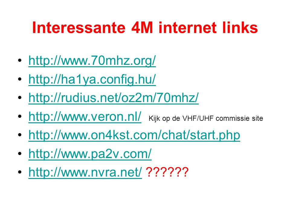 Interessante 4M internet links