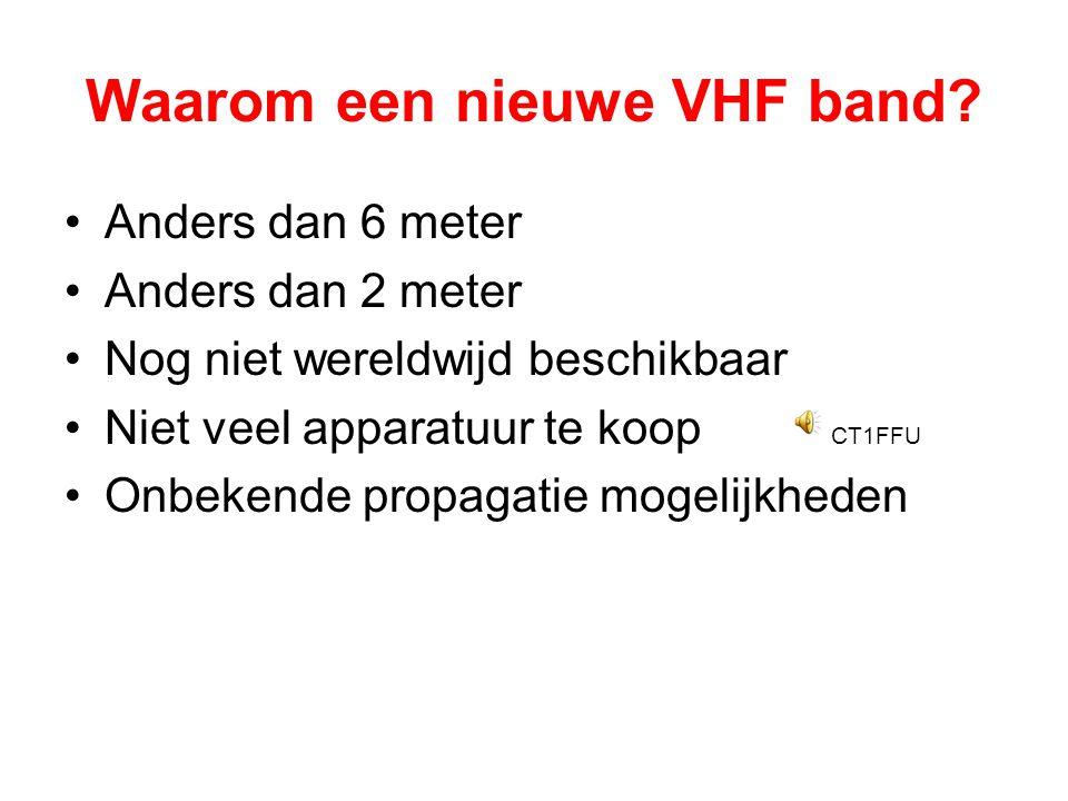 Waarom een nieuwe VHF band